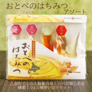 国産 非加熱 生はちみつ 使いきりセット おとべのはちみつアソート(10g×4袋入り)|otobesousei