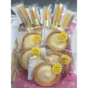 濃厚チーズ三昧【冷凍品】(濃厚チーズスティックケーキ5本+レアチーズタルト5個)|otodoke-shopping