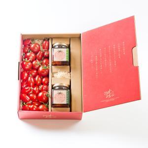 とまとやよずべぇのセミドライトマトのオイル漬け2個とトマト500gセット【送料・税込】|otodoke-shopping