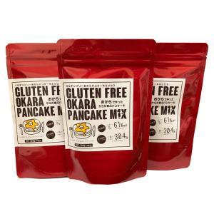 グルテンフリー おから パンケーキミックス 120gパック 510/セット 小麦粉不使用 国産|otodoke-shopping