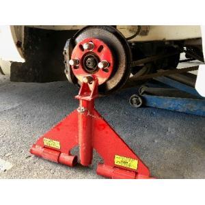 【K's Factory】ハブ・ジャッキ。タイヤを取り外した後、ハブ部分に直接固定するリジッドラック。整備、部品・用品|otodoke-shopping