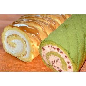 「茶句庭ながの」 ロールケーキお得な2本セット 抹茶ロールケーキ 1本(23cm) 生キャラメル 1本(23cm)|otodoke-shopping