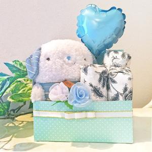 【おむつボックス】 ラッピング無料 送料込【BLUE】【PINK】|otodoke-shopping
