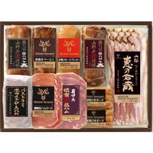 【バラエティセット(YB-100)】山野井焼豚(醤油)、山野井焼豚(味噌)、炭焼きベーコン、合鴨スモークブレスト、パストラミホワイトロースハム、燻製荒びきポー|otodoke-shopping