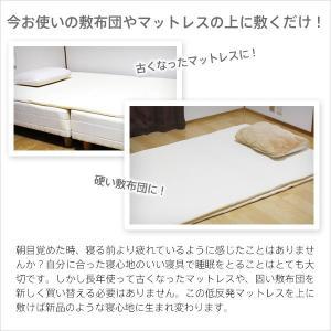低反発  マットレス シングル 2cm ヘブンズマット ウレタン 敷きパッド ベッドパッド ベッド|otogino|02