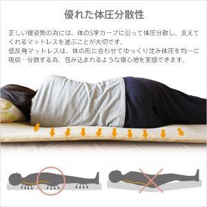 低反発  マットレス シングル 2cm ヘブンズマット ウレタン 敷きパッド ベッドパッド ベッド|otogino|05