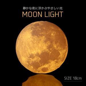 月型ライト ムーンライト LUNA LIGHT-ルナライト 18cm USB充電式 LED照明 月形ランプ 月光 3Dプリント 無段階調光 かわいい ボールランプ