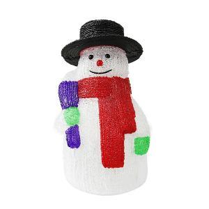 クリスマスイルミネーション モチーフライト 3D 飾り おしゃれ 可愛い 屋外対応 雪だるま スノーマン Mサイズ|otogino