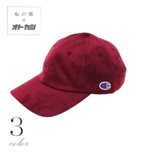 Champion チャンピオン キャップ メンズ ベロア ロゴ 刺繍 帽子 ブラック ワイン グリーン ローキャップ レディース ペア ユニセックス|otokazi