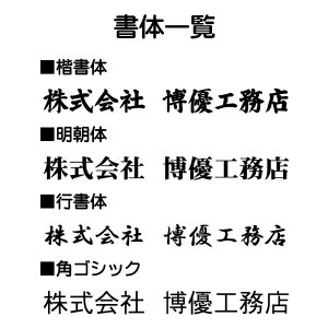 事務所用建設業許可票 鳶 10001(金枠・文字入り)|otoko-no-kinkanban|03
