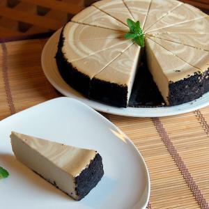 ニューヨークチーズケーキ カプチーノ 直径20cm 送料無料 アメリカ産 冷凍 カット済み|otokonodaidokoro