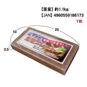 岩塩プレート 20×10cm 厚さ2.5cmサイズ 1枚 (常温)|otokonodaidokoro