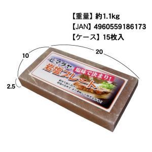 岩塩プレート 20×10cm 厚さ2.5cmサイズ 15枚【業務用 箱売り】(常温)|otokonodaidokoro