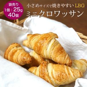 発酵後ミニクロワッサン LBG 25g 約40個 冷凍 パン生地 フランス産 業務用  袋入り|otokonodaidokoro