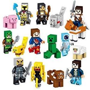 レゴ互換 マインクラフト風 ミ ニフィグ16体セット その2 マイクラ風 お得 大人気 子供おもちゃ バラエティスキン ブレイズ他