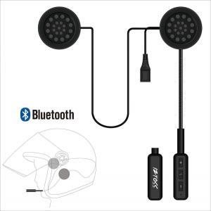 バイク用 ブルートゥースヘッドセット ワイヤレスヘルメットヘッドフォン通信システムスピーカーハンズフ...