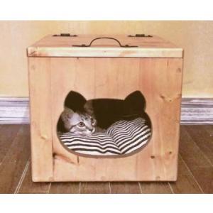 【受注生産・メーカー直送】ねこのおうち Lサイズ キャットハウス ネコ 猫