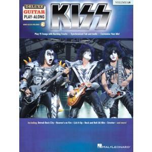 取寄 楽譜 Deluxe Guitar Play-Along Volume 18: Kiss   キッス 曲集・ギター&ボーカル譜 otorakuya