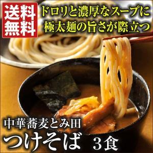 とみ田 つけそば3食 送料無料 言わずと知れた千葉県松戸の超行列店 中華蕎麦とみ田のつけそば