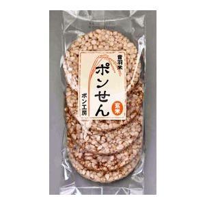 無農薬・JAS有機米音羽米 <味付けなし>玄米ぽんせんべい 5枚入×15袋|otowamai