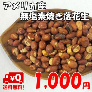 訳あり 無選別 アメリカ産 無添加 素焼き落花生 500g ピーナッツ ポイント消化 送料無料