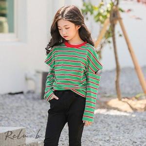子供服 長袖 トップス 秋 Tシャツ女の子 レジャー キッズ ファッション感 学生服|otto-shop