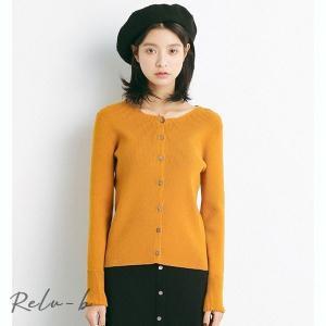 韓国 韓国ファッション トップス  長袖 前ボタン 前開き Vネック otto-shop
