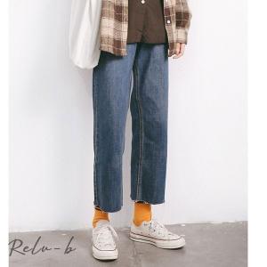 韓国ファッション アンクル丈 デニムパンツ シンプル ジーンズ スリムフィット パンツ カジュアル 大人カジュアル 大人デニム レディース ファッション|otto-shop
