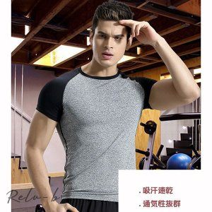 夏用 メンズ 吸汗速乾 半袖Tシャツジム トレーニングウェア ジョギング 男性用 マラソン スポーツウエア|otto-shop