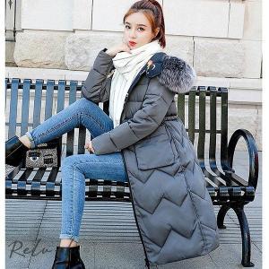 2way無地/花柄 レディース 中綿コート 中棉ジャケット 中棉アウター  可愛い 冬 新作 防寒着 大きいサイズ ロング丈 暖かい フード付き|otto-shop