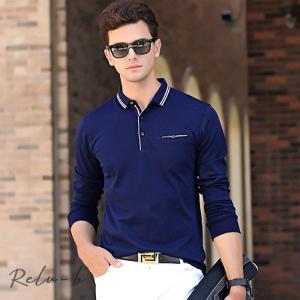 長袖 メンズ ポロシャツ ラガーシャツ トップス スポーツ ロゴ ゴルフウェア ブラック ホワイト レッド 冬 クイックドライ長袖ポロシャツ|otto-shop