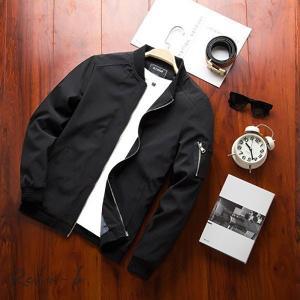 MA-1 メンズ ミリタリージャケット フライトジャケット スプリングジャンパー 立て襟 撥水 防風 ジャケット お兄系|otto-shop