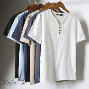 Tシャツ メンズ vネック Tシャツ メンズ おしゃれ 半袖 無地 Tシャツ 大きいサイズ 春夏 カジュアルTシャツ ハンサム 新作 6色|otto-shop