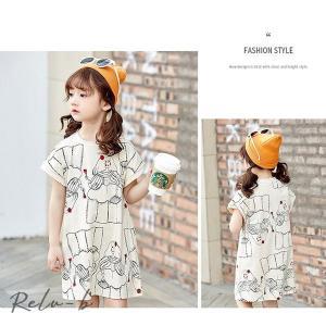 子供服 ワンピース 韓国子供服 女の子 半袖 ワンピース キッズ 可愛い 春夏ワンピース|otto-shop