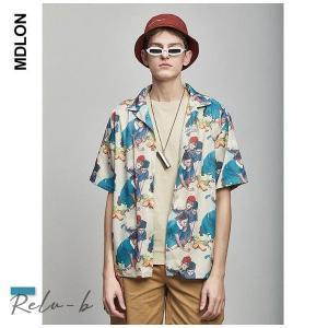 メンズ シャツ   アロハシャツ メンズ 大きいサイズ 夏 花柄 シャツ 半袖 ハワイアンシャツ サーフ b系 ストリート系 男女兼用|otto-shop
