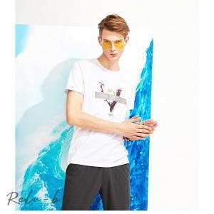 Tシャツ 半袖 カットソー クルーネック  スター プリント 綿100% 米綿 レディース メンズ 春夏|otto-shop