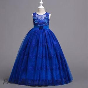 ドレス 女の子 発表会 結婚式 子ども レースワンピース お呼ばれ/ピアノ演奏会 子供 花刺繍柄 キッズ プリンセス ドレス|otto-shop