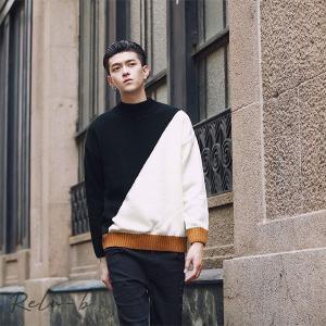 セーター メンズ ニット トップス トレンドセーター 秋冬 カジュアル ルーズ おしゃれ|otto-shop