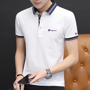 Tシャツ メンズ ポロシャツ 半袖 トップス Tシャツ 夏 メンズシャツ 折り襟 白 黒 ロンT シンプル カジュアルシャツ スポーツ インナー ゴルフウェア ゴルフ|otto-shop