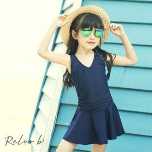水着 子供 女の子 夏 子供服 キッズ 女児 ベビー水着 おしゃれ 韓国子供服 ワンピース 無地 日焼け防止 UVカット スイムウェア ジュニア 可愛い|otto-shop