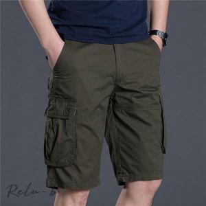 カーゴパンツ メンズ 夏用 ゆったり 五分丈 スリム 作業着 太め 作業ズボン ワークパンツ ミリタリー ショートパンツ ワイドパンツ 無地 カジュアル ボトムズ|otto-shop