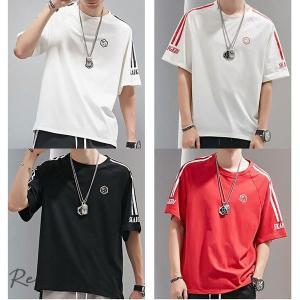 ビッグTシャツ 半袖 メンズ ビッグシルエット ロング丈 tシャツ ヘビーウェイト コットン ストリート系 Tシャツ オーバーサイズ 大きいサイズ|otto-shop