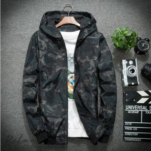 メンズ 薄手 ジップアップ UVカット パーカー 夏用 長袖 迷彩柄 ライトアウター フード付き サマージャケット カモフラージュ ラッシュガード 冷房対策|otto-shop