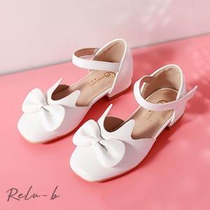 子供靴 キッズ シューズ フォーマル シューズ 女の子 PU靴  結婚式 入学式 入園式 卒園式 七五三 発表会 ライトピンク  ホワイト  ピンク|otto-shop