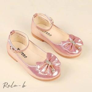子供フォーマル靴 キッズシューズ ジュニア履きやすい 子どもフォーマルシューズ 発表会 子供ドレス 結婚式 入学式  ゴールド  シルバー  ピンク|otto-shop