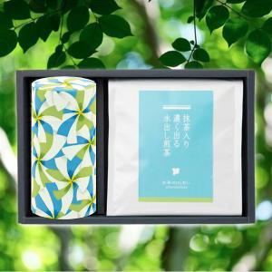 美味しさ引き出す三角型ティーバッグ使用。  【内容量】水出し煎茶5g×50個/藍染茶缶×1個 【原材...