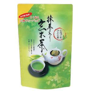 玄米茶 ティーバッグ 良く出るシリーズ 抹茶入り玄米茶 ホット アイス お湯 水出し 兼用 手軽 簡単 三角 ティーパック|otyashizuoka