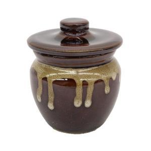 陶器 ミニ壺 ( ミニ ) 蓋付き 卓上 梅干し壺 味噌壺 漬物壺 タレ壺 小