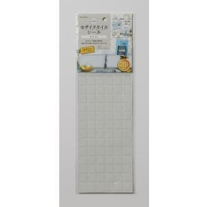 アール モザイクタイルシール 幅13.4×奥行き37.6×高さ0.12(cm)/MT-007 ホワイト/幅13.4奥行き37.6高さ0.12cm|ouchi-style