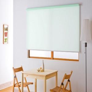 フルネス ロールスクリーン/無地タイプ グリーン/90X220cm|ouchi-style